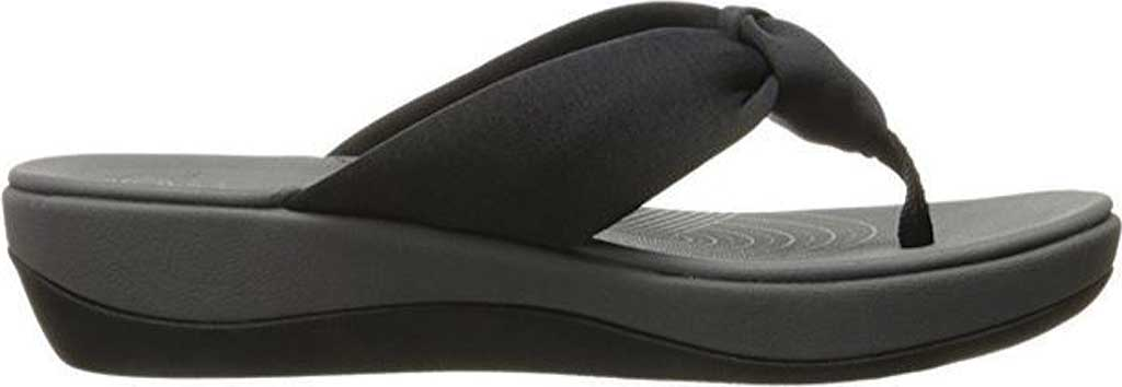 Women's Clarks Arla Glison Thong Sandal, Black Fabric II, large, image 2