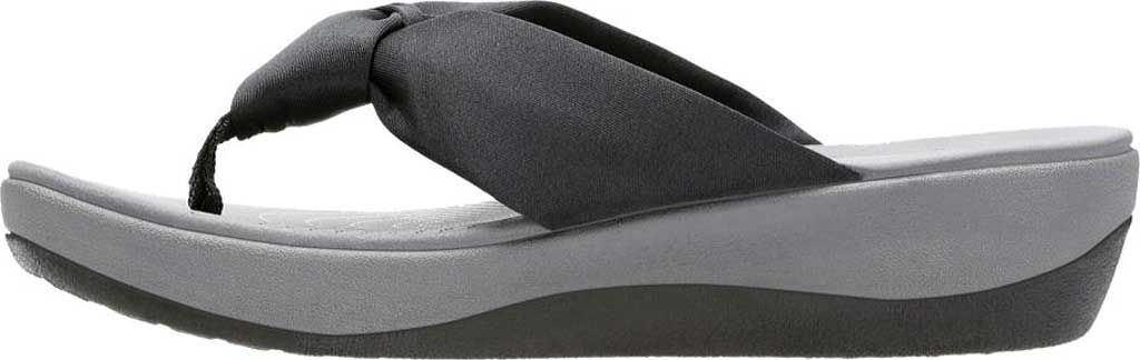Women's Clarks Arla Glison Thong Sandal, Black Fabric II, large, image 3
