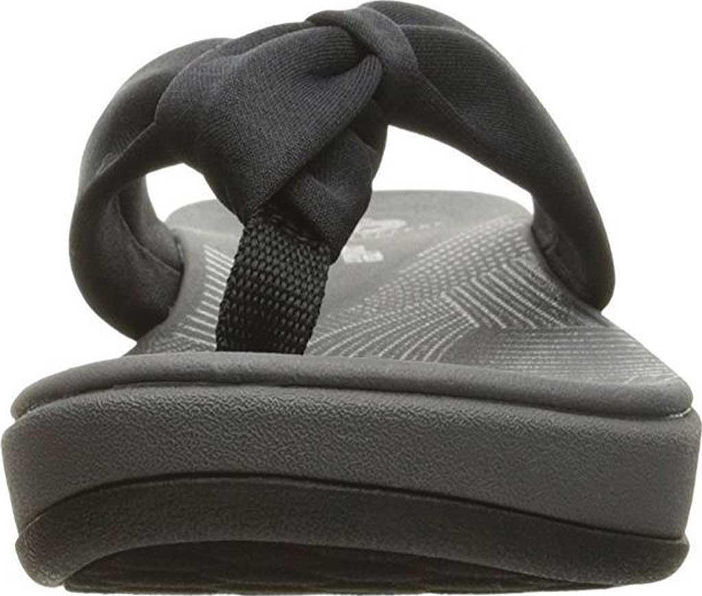 Women's Clarks Arla Glison Thong Sandal, Black Fabric II, large, image 4
