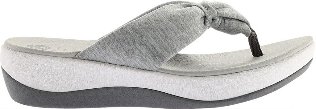 Women's Clarks Arla Glison Thong Sandal, Grey Heather Fabric II, large, image 2