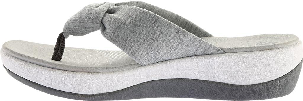 Women's Clarks Arla Glison Thong Sandal, Grey Heather Fabric II, large, image 3