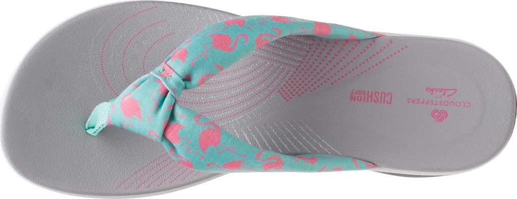 Women's Clarks Arla Glison Thong Sandal, Aqua/Pink Flamingoes Textile, large, image 5