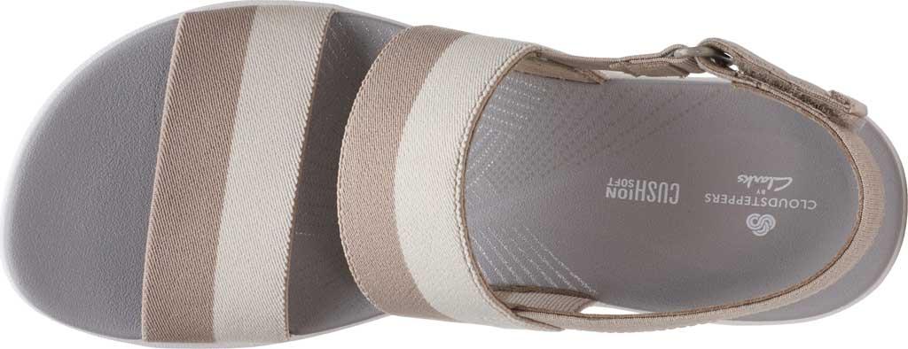 Women's Clarks Arla Jacory Slingback Sandal, Sand/Off White Striped Textile, large, image 5