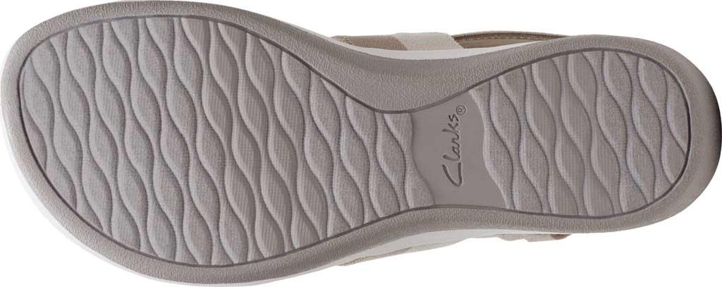 Women's Clarks Arla Jacory Slingback Sandal, Sand/Off White Striped Textile, large, image 6