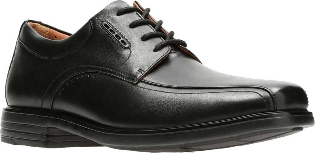 Men's Clarks UnKenneth Way Derby Shoe, Black Full Grain Leather, large, image 1