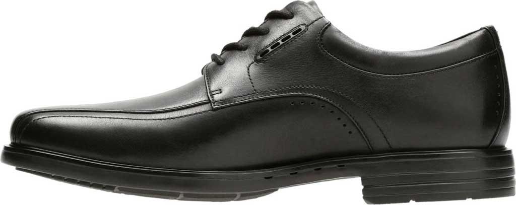 Men's Clarks UnKenneth Way Derby Shoe, Black Full Grain Leather, large, image 3