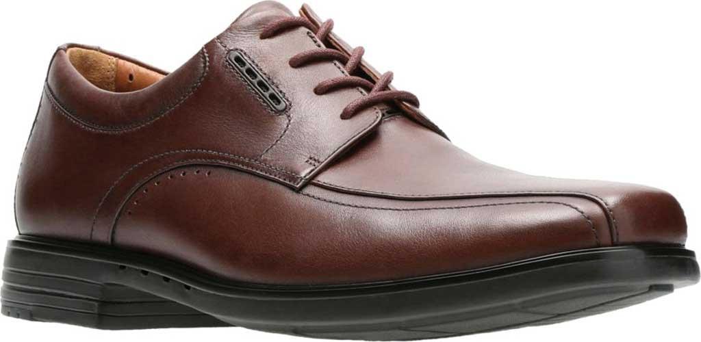 Men's Clarks UnKenneth Way Derby Shoe, Brown Full Grain Leather, large, image 1