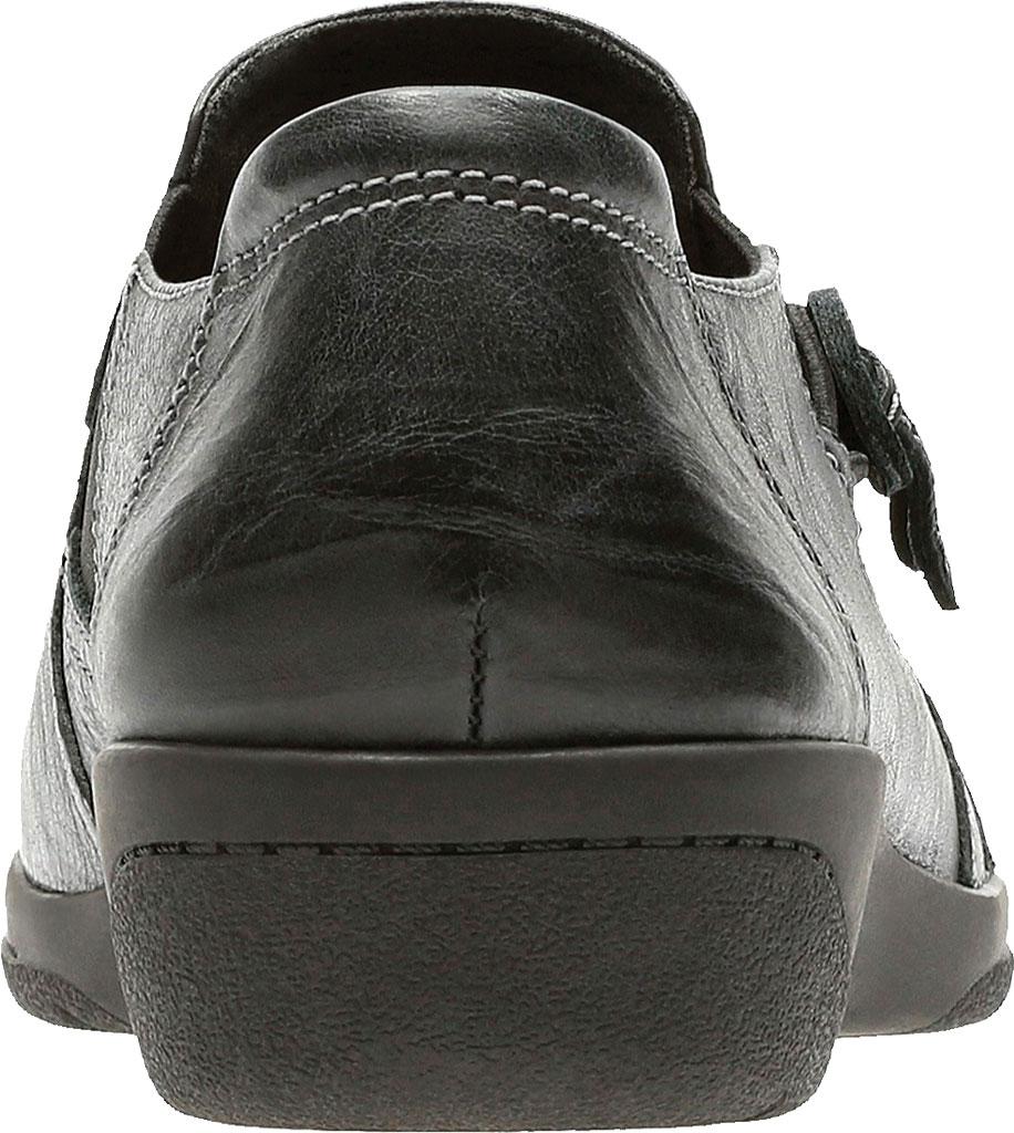 Women's Clarks Cheyn Madi Monkstrap, Black Tumbled Full Grain Leather, large, image 4