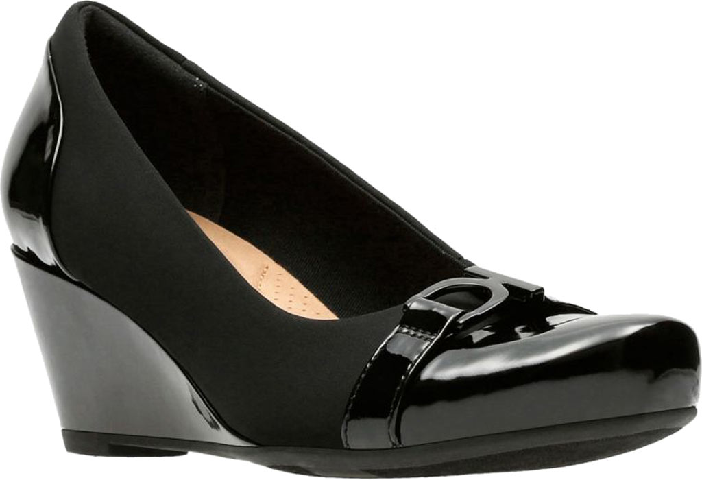 Women's Clarks Flores Poppy Wedge, , large, image 1