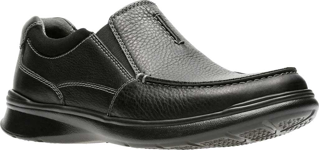 Men's Clarks Cotrell Free Moc Toe Shoe, Black Oily Leather, large, image 1
