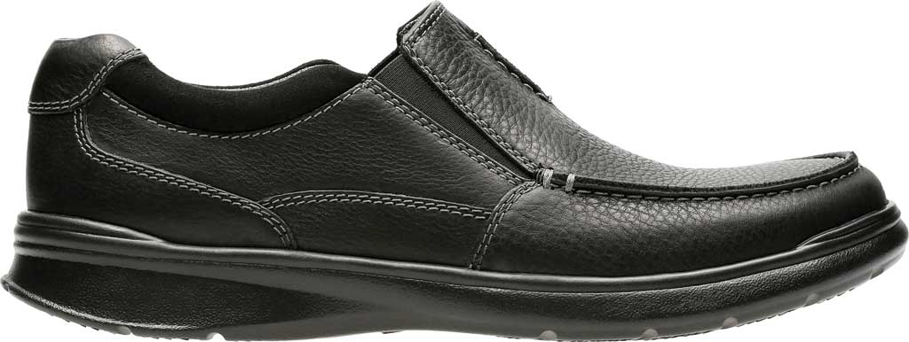 Men's Clarks Cotrell Free Moc Toe Shoe, Black Oily Leather, large, image 2
