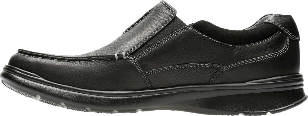 Men's Clarks Cotrell Free Moc Toe Shoe, Black Oily Leather, large, image 3