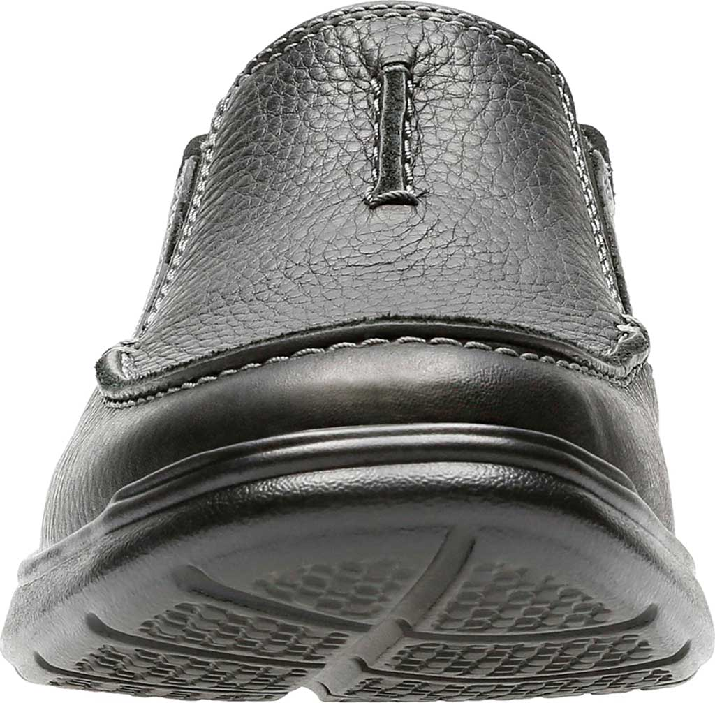 Men's Clarks Cotrell Free Moc Toe Shoe, Black Oily Leather, large, image 4