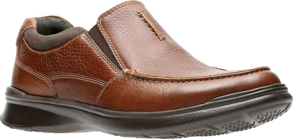 Men's Clarks Cotrell Free Moc Toe Shoe, Tobacco Full Grain Leather, large, image 1