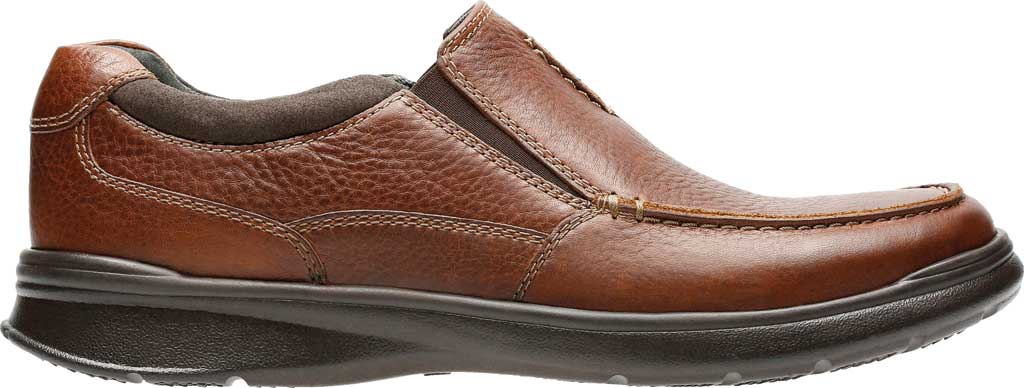 Men's Clarks Cotrell Free Moc Toe Shoe, Tobacco Full Grain Leather, large, image 2