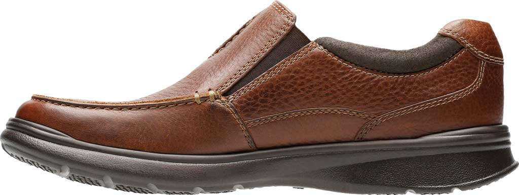 Men's Clarks Cotrell Free Moc Toe Shoe, Tobacco Full Grain Leather, large, image 3