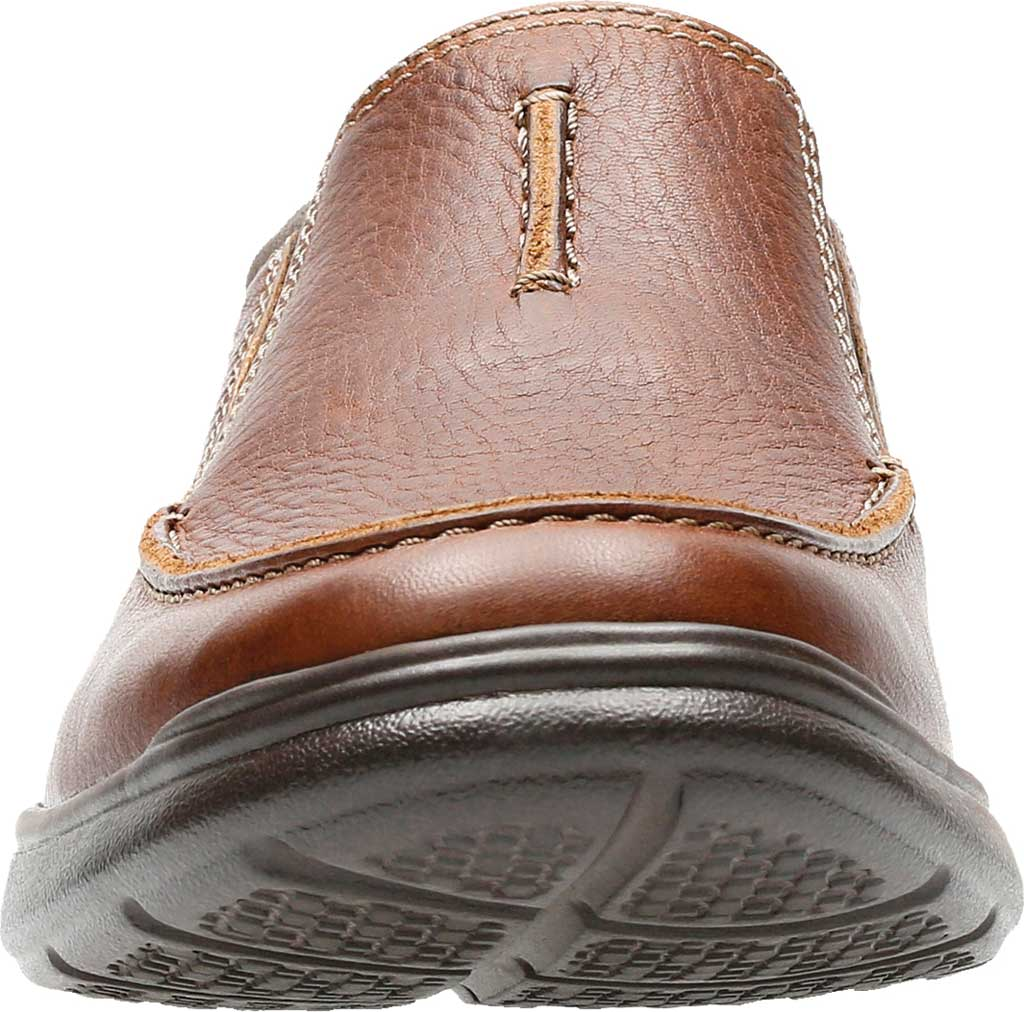 Men's Clarks Cotrell Free Moc Toe Shoe, Tobacco Full Grain Leather, large, image 4