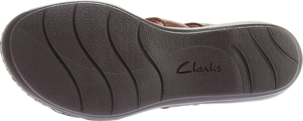 Women's Clarks Leisa Vine Slingback, Dark Tan Full Grain Leather, large, image 6