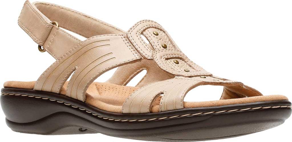 Women's Clarks Leisa Vine Slingback, Sand Full Grain Leather, large, image 1
