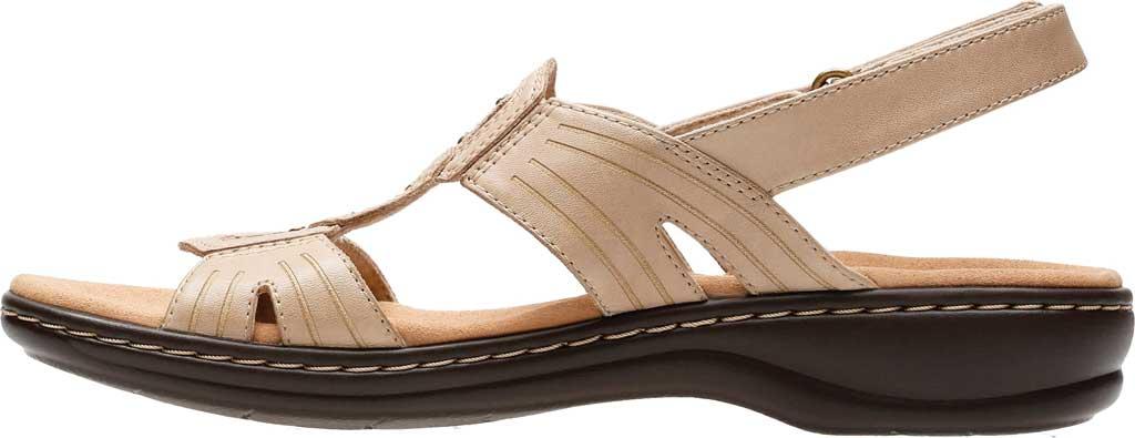 Women's Clarks Leisa Vine Slingback, Sand Full Grain Leather, large, image 3