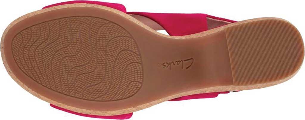 Women's Clarks Maritsa Lara Platform Sandal, Fuchsia Suede, large, image 3