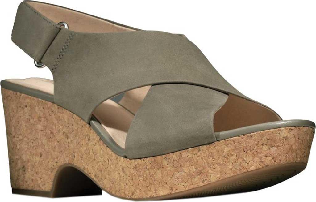 Women's Clarks Maritsa Lara Platform Sandal, Sage Nubuck, large, image 1