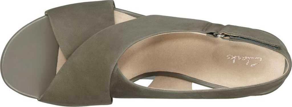 Women's Clarks Maritsa Lara Platform Sandal, Sage Nubuck, large, image 2