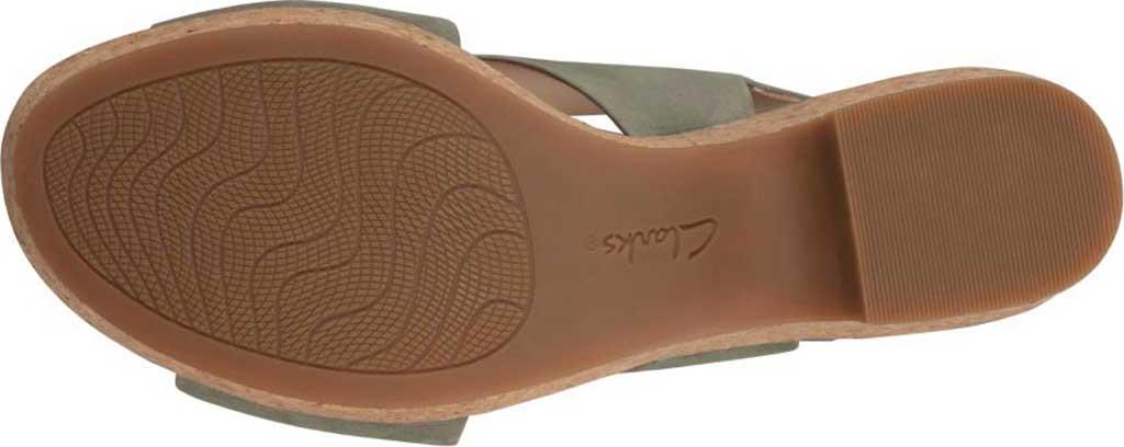 Women's Clarks Maritsa Lara Platform Sandal, Sage Nubuck, large, image 3
