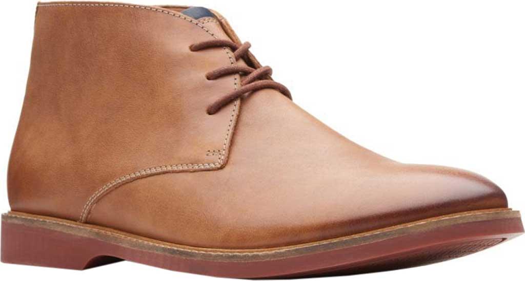 Men's Clarks Atticus Limit Chukka Boot, Tan Full Grain Leather, large, image 1