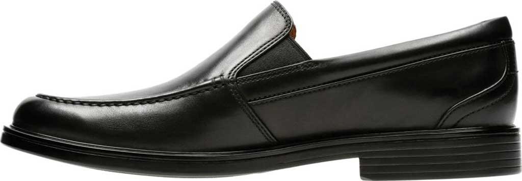 Men's Clarks Un Aldric Slip Moccasin, Black Full Grain Leather, large, image 3