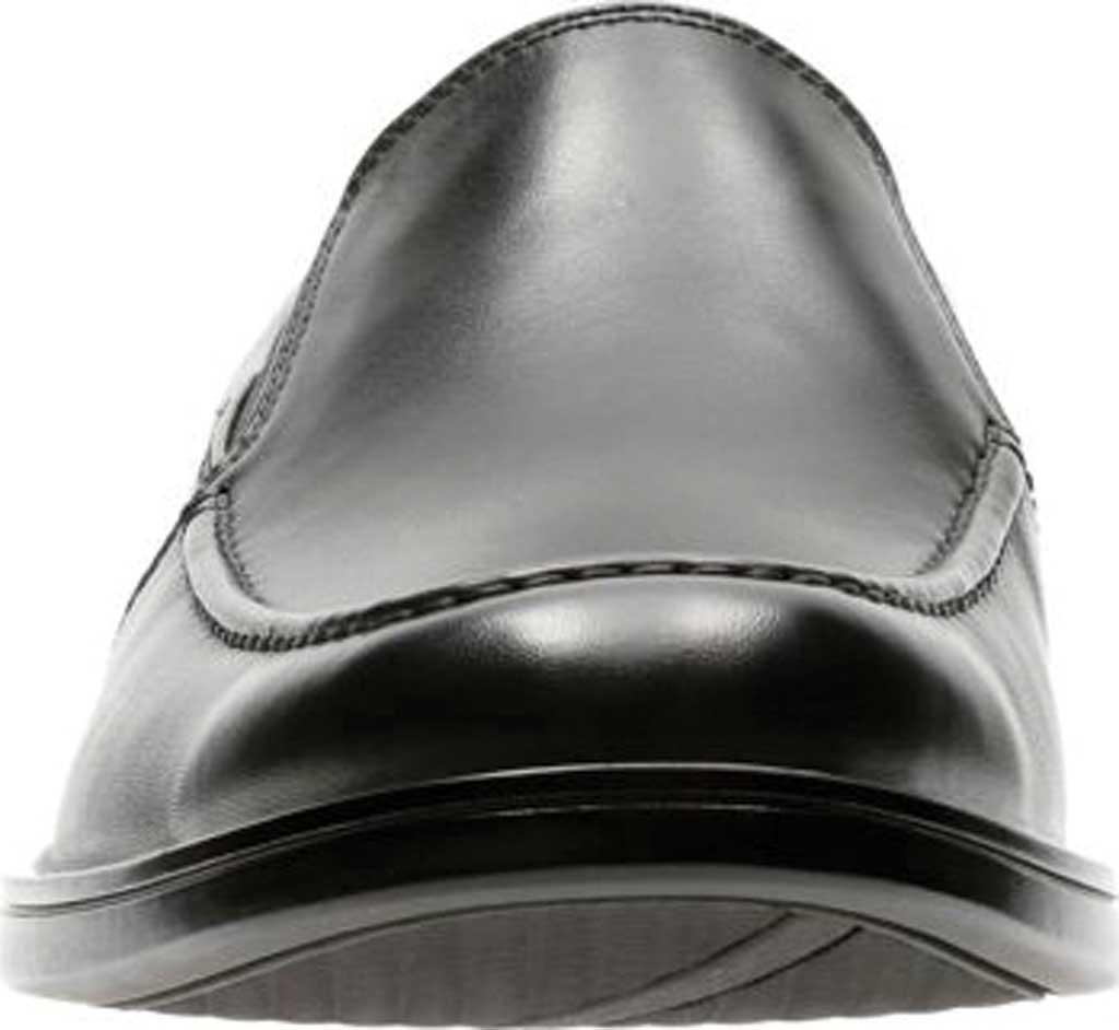 Men's Clarks Un Aldric Slip Moccasin, Black Full Grain Leather, large, image 4
