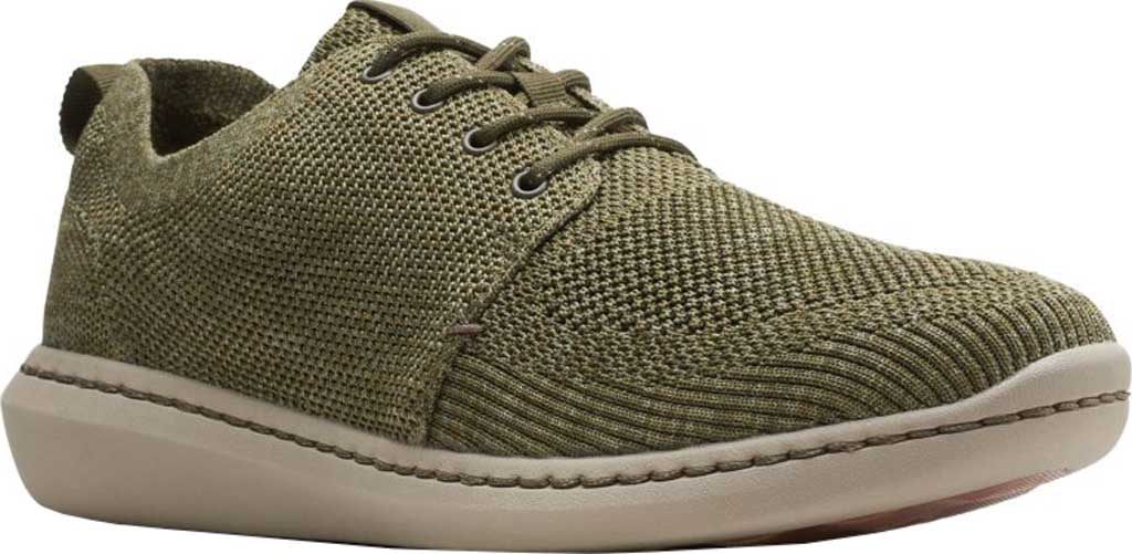 Men's Clarks Step Urban Mix Sneaker, Olive Green Combination Fabric, large, image 1