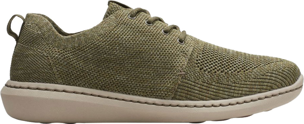 Men's Clarks Step Urban Mix Sneaker, Olive Green Combination Fabric, large, image 2