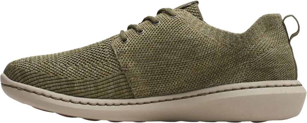 Men's Clarks Step Urban Mix Sneaker, Olive Green Combination Fabric, large, image 3