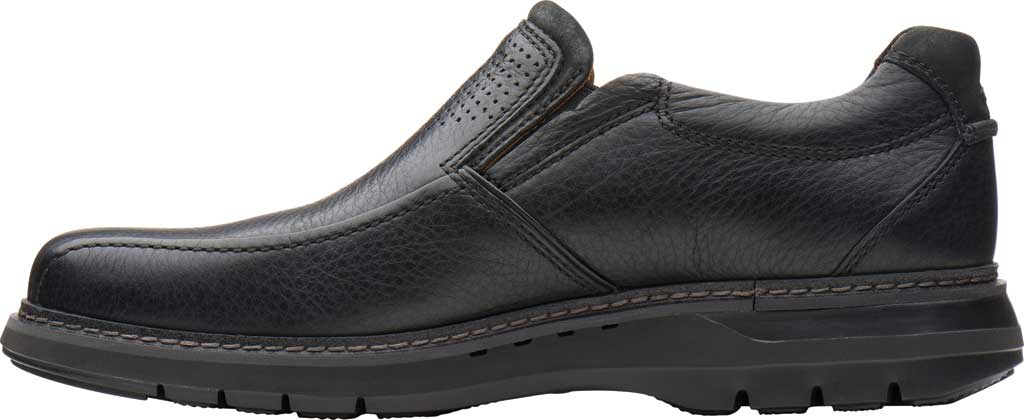 Men's Clarks Un Ramble Step Loafer, Black Tumbled Leather, large, image 3