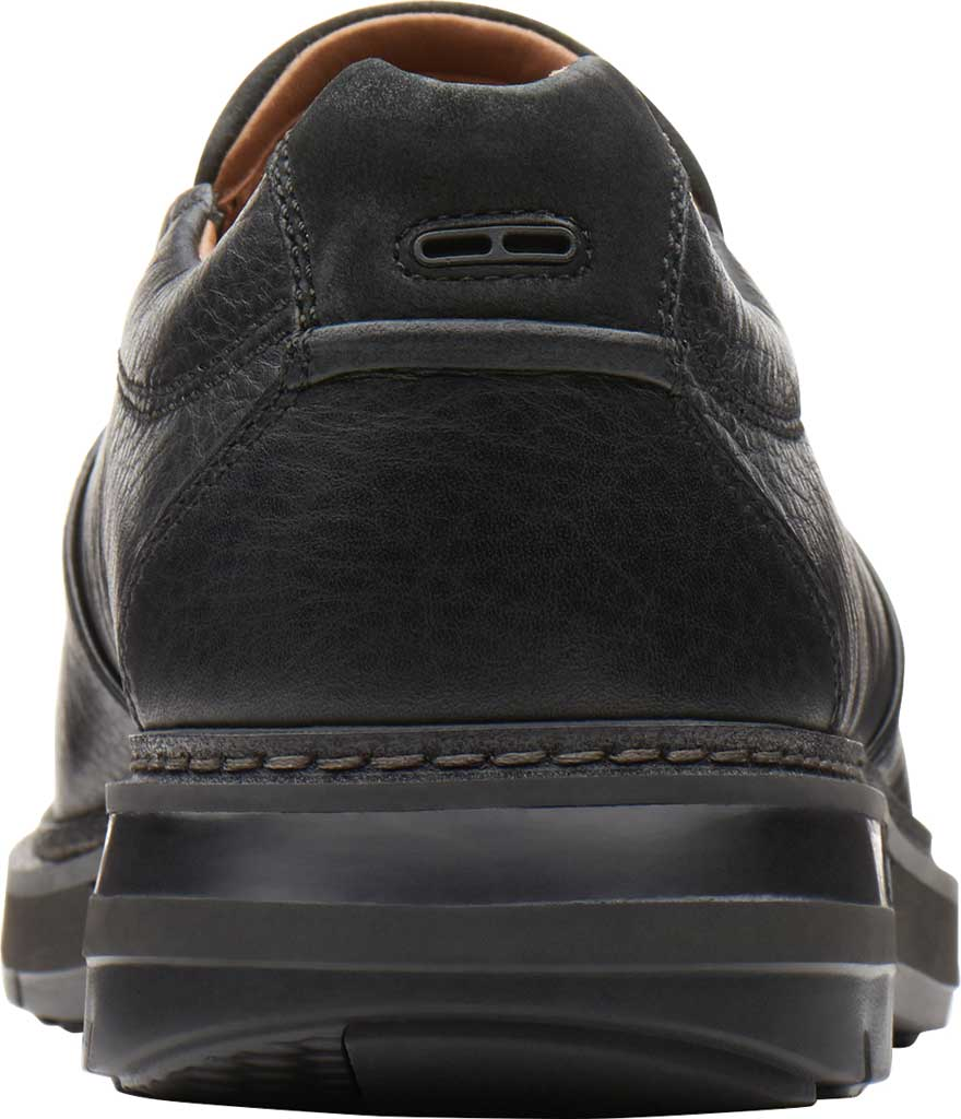 Men's Clarks Un Ramble Step Loafer, Black Tumbled Leather, large, image 4