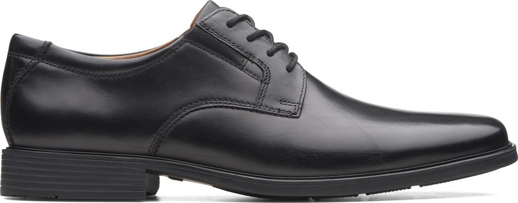 Men's Clarks Tilden Plain II Oxford, Black Full Grain Leather, large, image 2