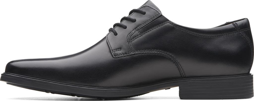 Men's Clarks Tilden Plain II Oxford, Black Full Grain Leather, large, image 3