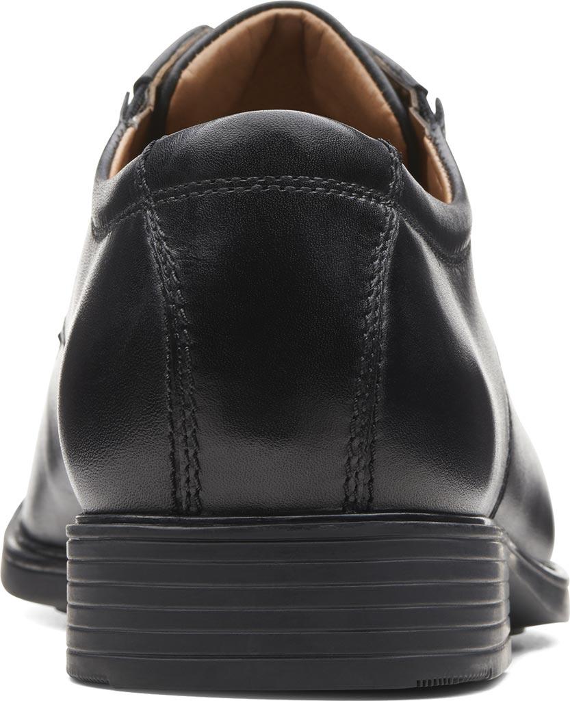 Men's Clarks Tilden Plain II Oxford, Black Full Grain Leather, large, image 4