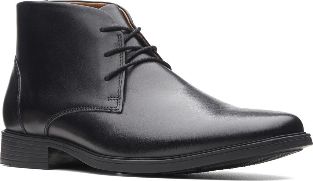 Men's Clarks Tilden Top Chukka Boot, Black Full Grain Leather, large, image 1