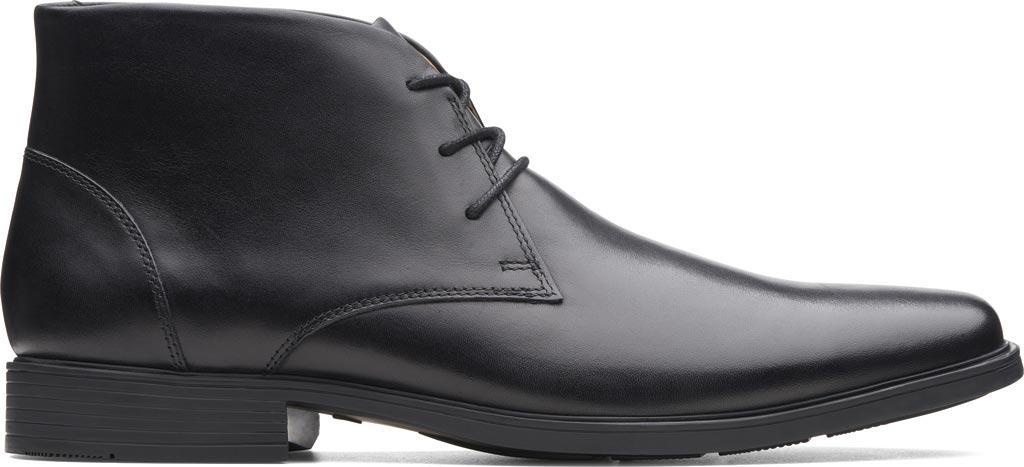 Men's Clarks Tilden Top Chukka Boot, Black Full Grain Leather, large, image 2