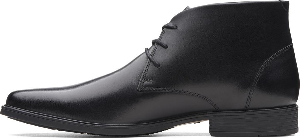 Men's Clarks Tilden Top Chukka Boot, Black Full Grain Leather, large, image 3