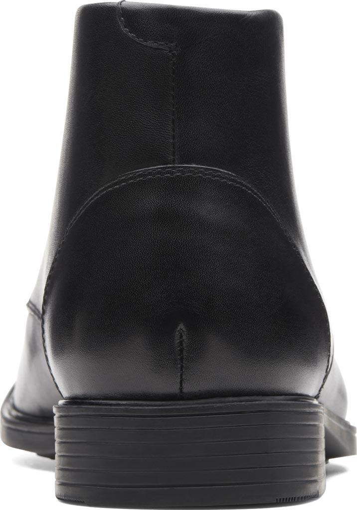 Men's Clarks Tilden Top Chukka Boot, Black Full Grain Leather, large, image 4