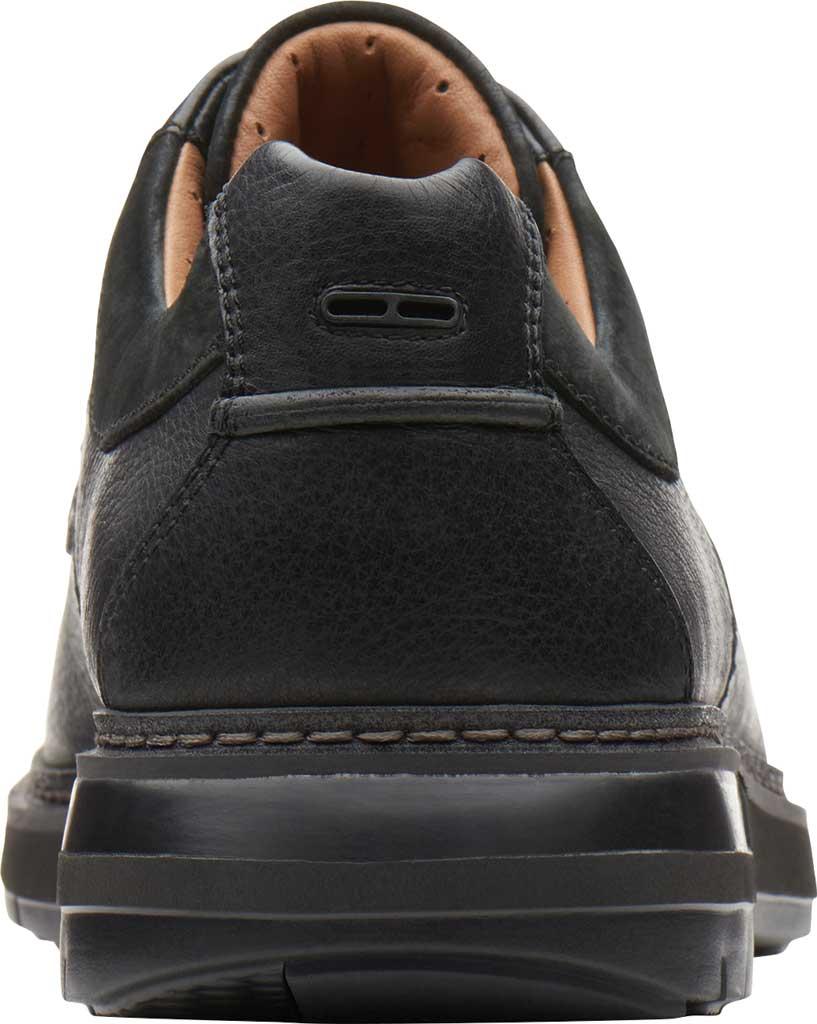 Men's Clarks Un Ramble Lo Oxford, Black Tumbled Leather, large, image 4