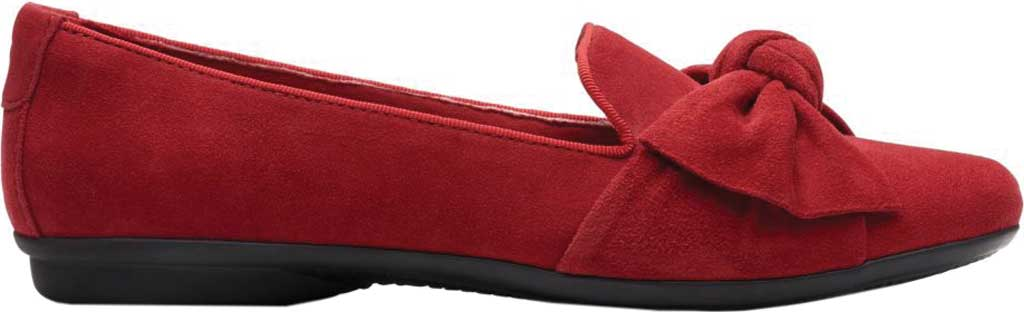 Women's Clarks Gracelin Jonas Flat, Red Suede, large, image 2