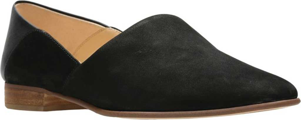 Women's Clarks Pure Tone Slip-On, Black Combination, large, image 1