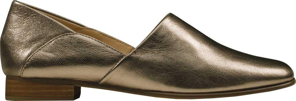 Women's Clarks Pure Tone Slip-On, Stone Metallic Leather, large, image 2