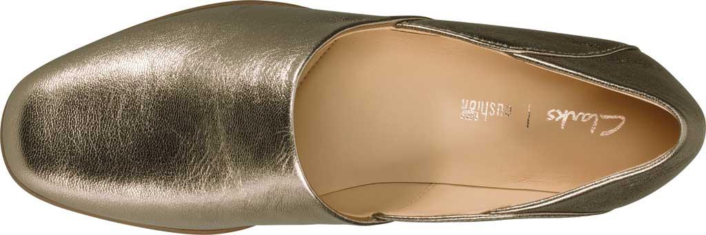 Women's Clarks Pure Tone Slip-On, Stone Metallic Leather, large, image 4