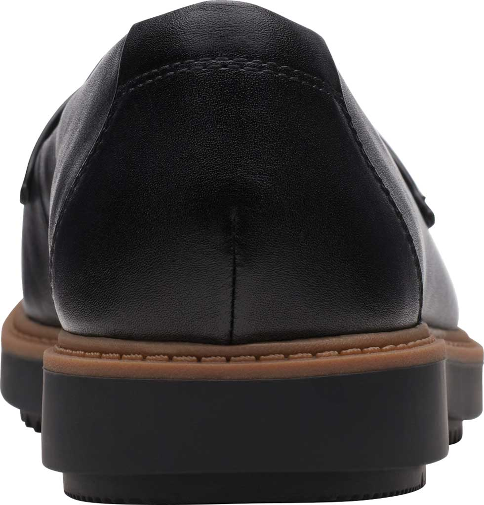 Women's Clarks Raisie Arlie Loafer, Black Croc/Leather Combination, large, image 4