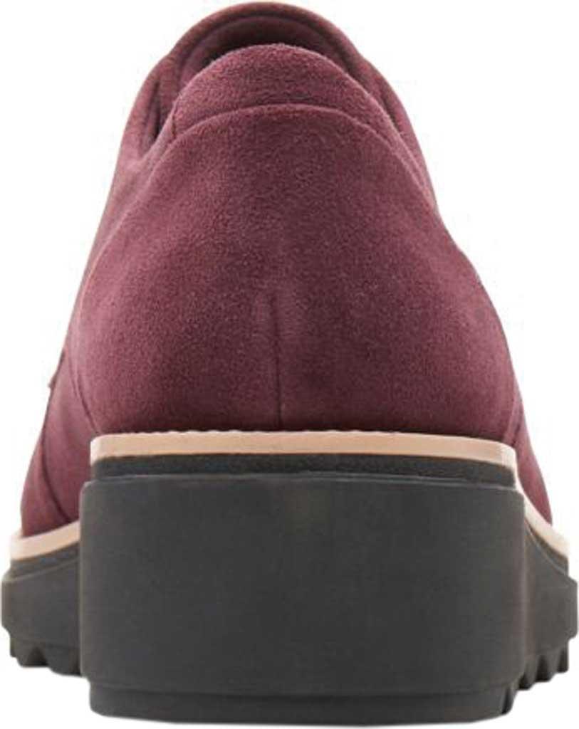 Women's Clarks Sharon Noel Sneaker, Burgundy Nubuck, large, image 4